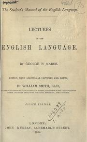 Cover of: Lectures on the English language