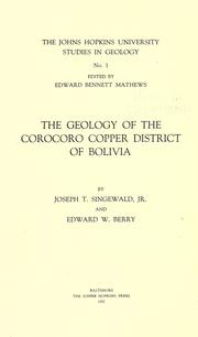 Cover of: The geology of the Corocoro copper district of Bolivia