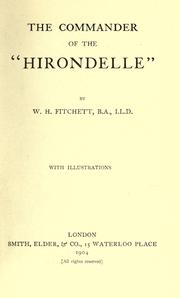 "Cover of: The commander of the ""Hirondelle"""