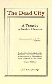 Cover of: The dead city: a tragedy