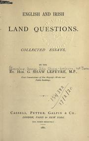 Cover of: English and Irish land questions