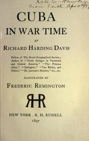 Cover of: Cuba in war time