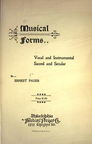 Musical forms by E. Pauer