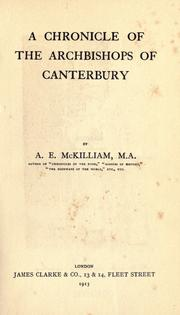 Cover of: A chronicle of the archbishops of Canterbury
