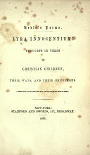 Cover of: Keble's poem