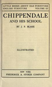 Cover of: Chippendale and his school