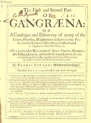 Cover of: Gangraena