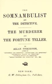 Cover of: The somnambulist and the detective: The murderer and the fortune teller.