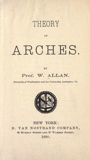 Cover of: Theory of arches