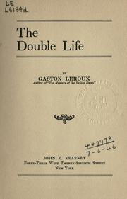 Cover of: The double life