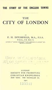 Cover of: The city of London