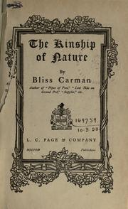 The Kinship of Nature by Bliss Carmen