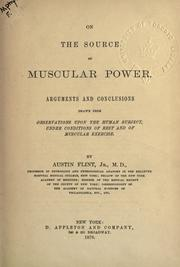 Cover of: On the source of muscular power