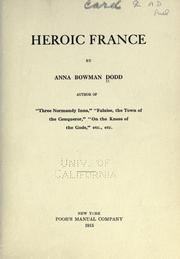 Cover of: Heroic France