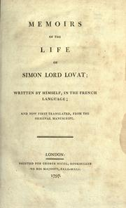 Cover of: Memoirs of the life of Simon Lord Lovat