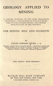 Cover of: Geology applied to mining