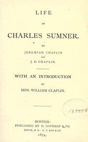 Life of Charles Sumner by Chaplin, Jeremiah
