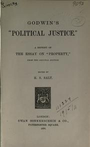 Cover of: Enquiry concerning political justice