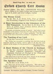 Cover of: The Nicene Creed |