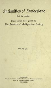 Cover of: Antiquities of Sunderland and its vicinity by