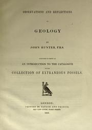 Cover of: Observations and reflections on geology