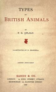 Cover of: Types of British animals