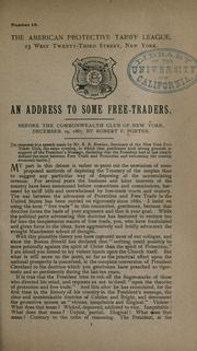 Cover of: An address to some free traders