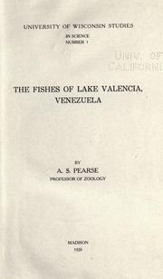 Cover of: The fishes of Lake Valencia, Venezuela