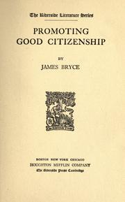 Cover of: Promoting good citizenship