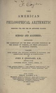 Cover of: The American philosophical arithmetic | John F. Stoddard