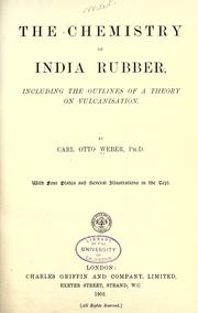 Cover of: The chemistry of India rubber