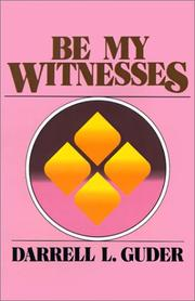 Cover of: Be my witnesses