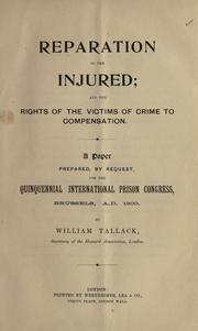 Cover of: Reparation to the injured