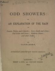 Cover of: Odd showers by [Gibb Sir George Duncan