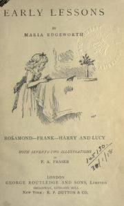 Cover of: Early lessons. | Maria Edgeworth