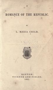 Cover of: A Romance of the Republic