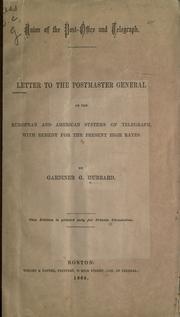 Cover of: Union of the post-office and telegraph