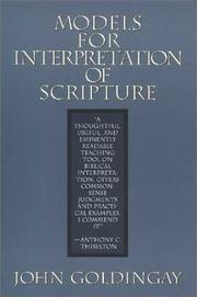 Cover of: Models for interpretation of scripture