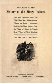 Cover of: Monument to, and history of the Mingo Indians |