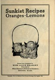 Cover of: Sunkist recipes, oranges-lemons by Alice Bradley