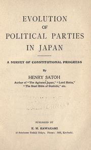 Cover of: Evolution of political parties in Japan