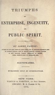 Cover of: Triumphs of enterprise, ingenuity, and public spirit
