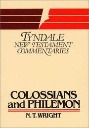 Cover of: Epistles of Paul to the Colossians and to Philemon: an introduction and commentary