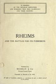 Cover of: Rheims and the battles for its possession. |