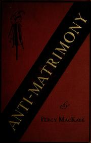 Cover of: Anti-matrimony