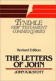 Cover of: The Letters of John: an introduction and commentary