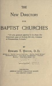 Cover of: The new directory for Baptist churches by Edward Thurston Hiscox