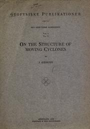 Cover of: On the structure of moving cyclones