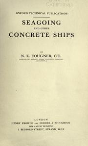 Cover of: Seagoing and other concrete ships