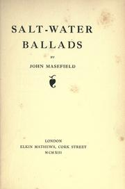 Cover of: Salt-water Ballads